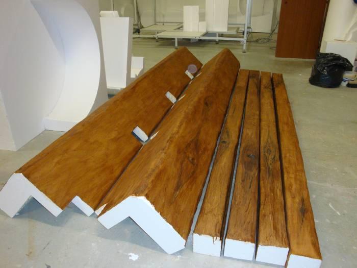 Edilizia per interni finte travi legno for Polistirolo bricoman